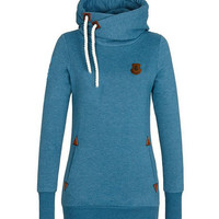 Women Terry Hoodies Casual Hooded Long Sleeve Pocket Design