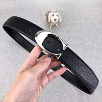 COACH New fashion letter buckle couple belt Black with box