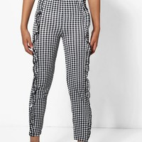 Girls Frill Front Jersey Trousers | Boohoo