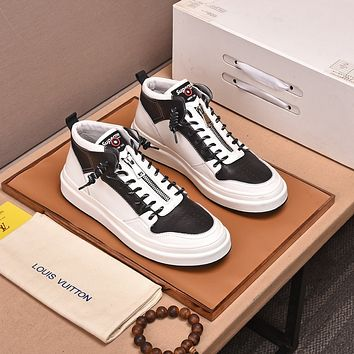 lv louis vuitton men fashion boots fashionable casual leather breathable sneakers running shoes 903