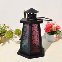 Home Decor Iron Lights Glass Candle Stand [6256385926]