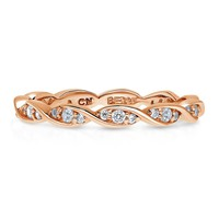 Rose Gold Plated Sterling Silver CZ Eternity RingBe the first to write a reviewSKU# r1038-03