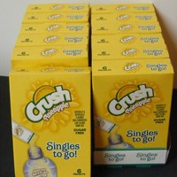 Lot of 12 (6-ct.) Box ~CRUSH PINEAPPLE~ Singles to Go! Sugar Free Drink Mix.