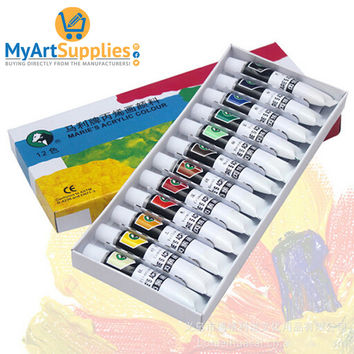 Acrylic Paints High Quality Hand And Wall Painting Set (12 Pack)