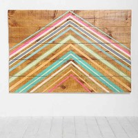 Oh My Wood! Pyramid Headboard- Multi Full/queen