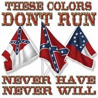 These Colors Don't Run - Square Sticker