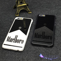 I6 Plus Luxury Chrome Mirror Brand PC Hard Phone Cover Cigarette logo funda carcasa capa Coque for iPhone 6 Plus 5 5s 6 Case