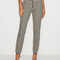 Low Rise Check Columnist Ankle Pant