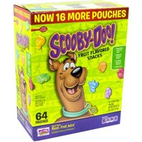 Scooby Doo! Fruit Flavored Snacks, 0.8 oz, 64 count - Walmart.com