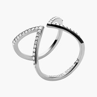 Women's Michael Kors Pave Open Ring