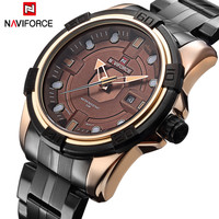 NAVIFORCE Brand Full Steel Army Military Watches