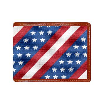 Star Spangled Banner Needlepoint Wallet by Smathers & Branson