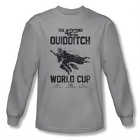 Quidditch World Cup Adult Silver Long Sleeve T-Shirt |