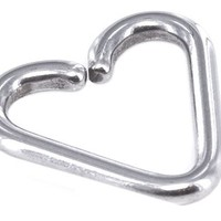 A-Tiny Daith Heart Captive Ring-18 gauge 5/16 inch Heart Shaped Cartilage Earring-Tragus Jewelry