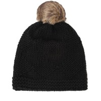 With Love From CA Solid Pom Beanie - Womens Hat - Black - One