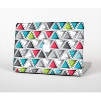 """The Vibrant Colored Triangled 3d Shapes Skin Set for the Apple MacBook Pro 13"""" with Retina Display"""