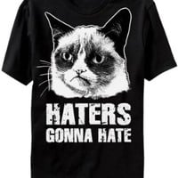 Grumpy Cat Haters Gonna Hate Mens Black T-Shirt