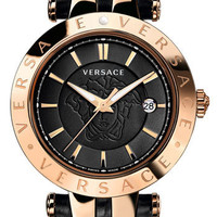 Versace 'V-Race' Leather Strap Watch, 42mm   Nordstrom