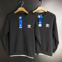 Adidas Casual Long Sleeve Round Neck Embroider Logo Pullover Sweater
