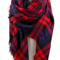 Autumn Woods Plaid Blanket Scarf