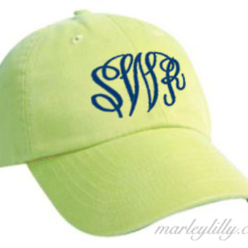 Monogrammed Baseball Hat | Custom Cap | Personalized Marley Lilly