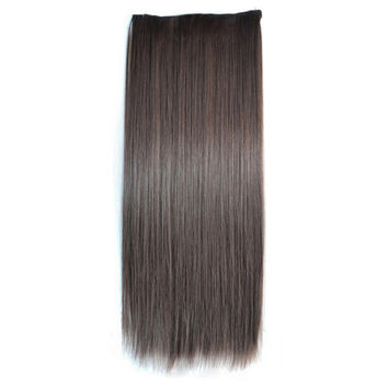 Ivisible Hair Weft Long Straight Hair Extension 5 Cards Wig black brown