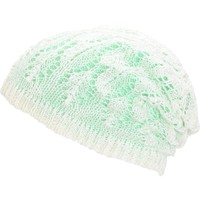 Empyre Noble Mint Crochet Reversible Beanie