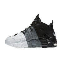 New Arrival Authentic Nike Air More Uptempo Tri-Color Men's Breathable Basketball Shoes Sports Sneakers