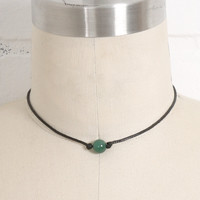 Jade Pearl on a Cord Necklace