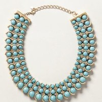 Graded Turquoise Necklace by Anthropologie Turquoise One Size Necklaces