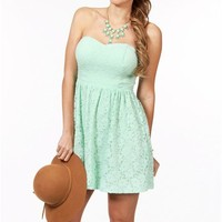 Mint Summer Lace Dress