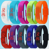 1Pcs New Arrival Fashion Jewelry Unisex Sport LED Watches Candy Color Silicone Rubber Touch Screen Digital Watches, Womens And Mens Bracelet Bangle Wristwatch Children's Watches BY EZMAX = 1958046788