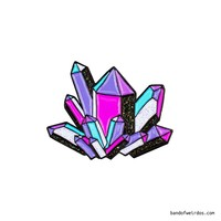 CRYSTAL // ENAMEL PIN