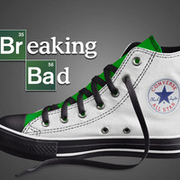 Breaking Bad Converse, Heisenberg Converse, Custom Converse, Custom Breaking Bad Converse, Breaking Bad Shoes, Breaking Bad Inspired,