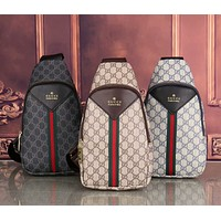 Gucci new zipper chest bag fashion men's and women's waist bag shoulder bag messenger bag