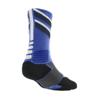 Nike Hyper Elite Chase Crew Basketball Socks Size Large (Blue)