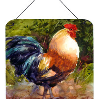 Bird - Rooster Aluminium Metal Wall or Door Hanging Prints