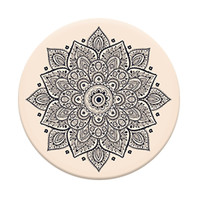 Popsocket Phone Grip & Stand-Floral Abstract, Pink-Black