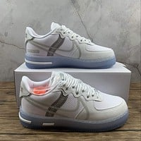 Morechoice Tuhz Nike Air Force 1 React Qs White Ice Low Sneakers Casual Skaet Shoes Cq8879-100