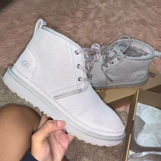 Image of UGG hot-selling snow lace-up Martin boots fashion simple hand-sewn non-slip high-top boots fashion men and women Shoes Gray