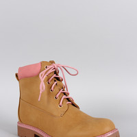 Girly Lace Up Work Boot