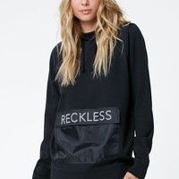 Young & Reckless Varsity Stacked Pullover Hoodie - Womens Hoodie - Black