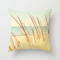 Beach Breeze Photo Pillow Cover Living Room Home Decor Bedroom Beach Lake Michigan Golden Light Throw Pillow Case Shore 16x16 18x18 20x20