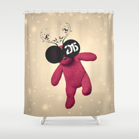 Little Pink Bear said :: Happy New Year 2015 :) '' Shower Curtain by LilaVert