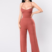 Wide Ride Jumpsuit - Marsala