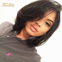 bob wig Virgin Brazilian Full Lace Human Hair Wigs With Bangs/Glueless Lace Front Wig 130 Density Full Lace Wig For Black Woman