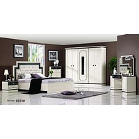 Contemporary Look Glossy Shine Full Set Bedroom Furniture