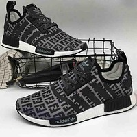 "ADIDAS NMD ""FILa"" Co-brand Fashion Casual Shoes F-A36H-MY Black"