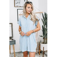 Jeanetically Gifted Button Down Dress