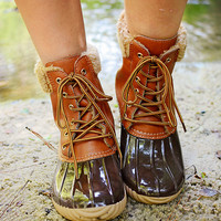 Jango Duck Boot  Brown/Tan